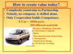 how to create value today