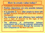 how to create value today1