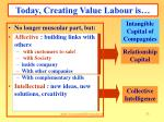today creating value labour is