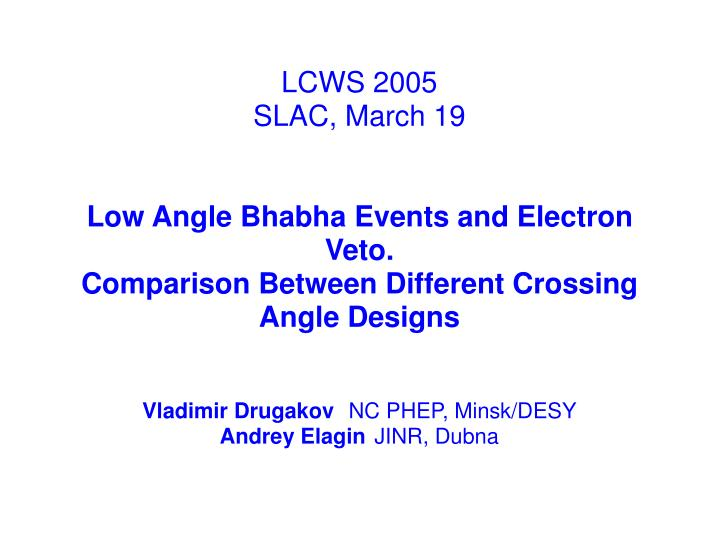 LCWS 2005
