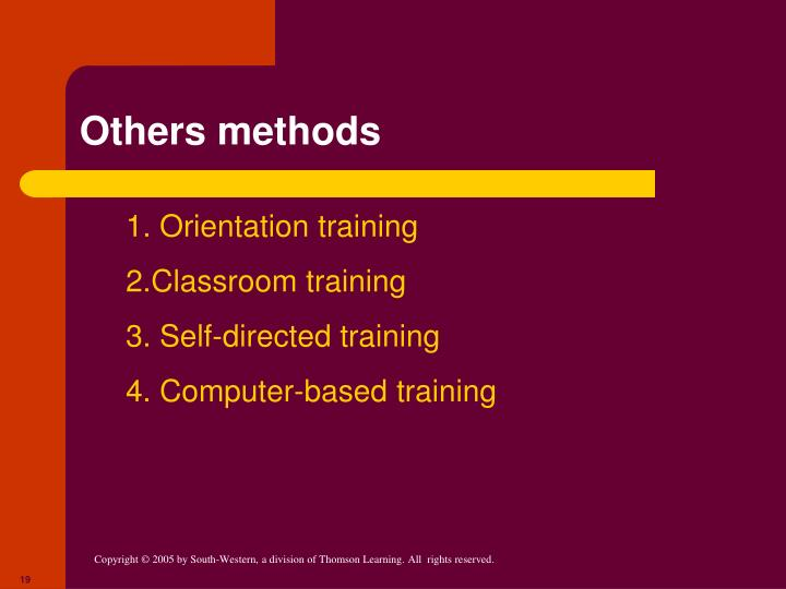Others methods