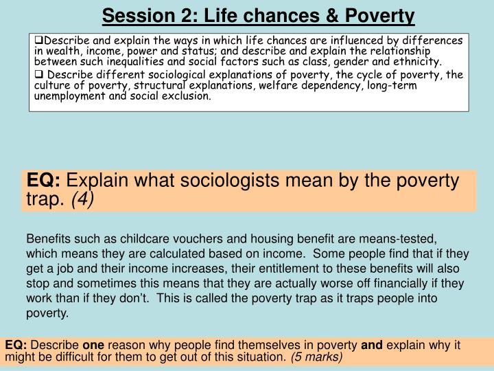 Session 2: Life chances & Poverty