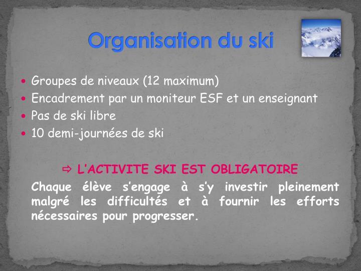 Organisation du ski