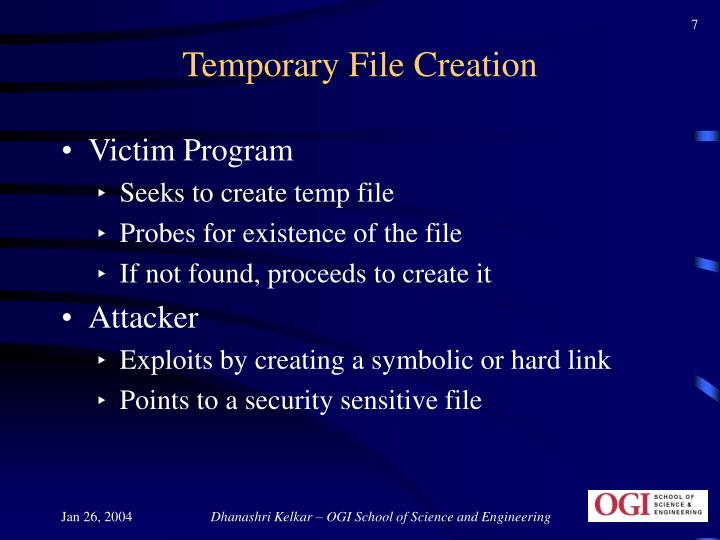Temporary File Creation