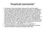 anarkisti esimerkki