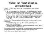yleiset lait historiallisessa selitt misess