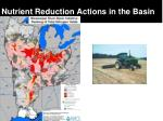 nutrient reduction actions in the basin