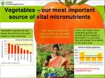 vegetables our most important source of vital micronutrients