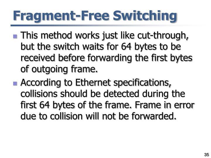 Fragment-Free Switching
