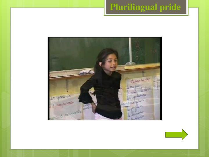 Plurilingual pride