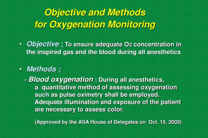 Objective and Methods