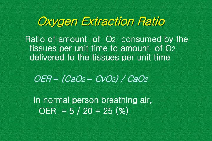 Oxygen Extraction Ratio
