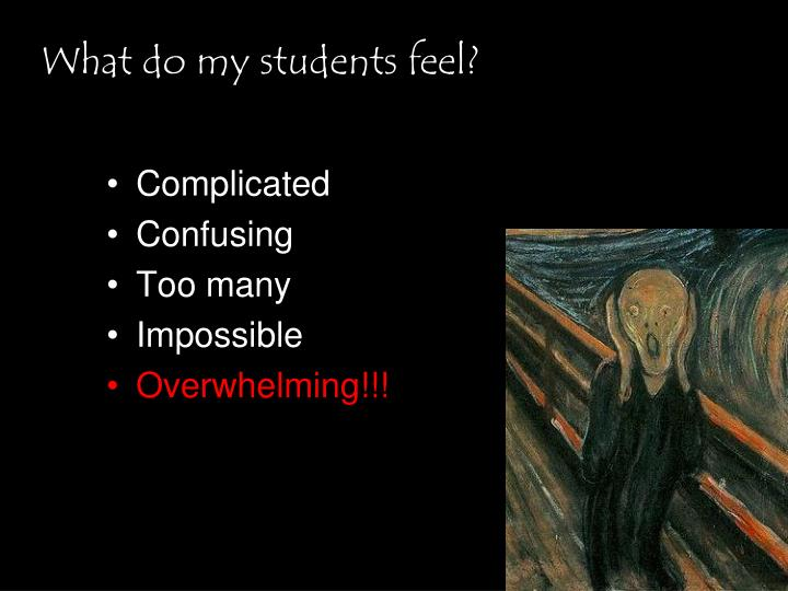 What do my students feel?