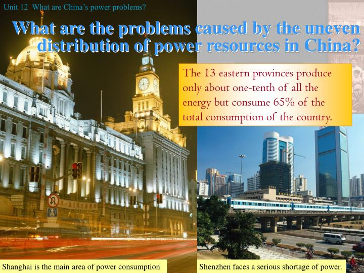 Unit 12  What are China's power problems?