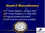 grant c discretionary