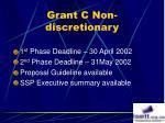 grant c non discretionary