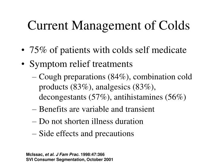Current Management of Colds