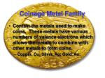 coinage metal family