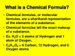 what is a chemical formula