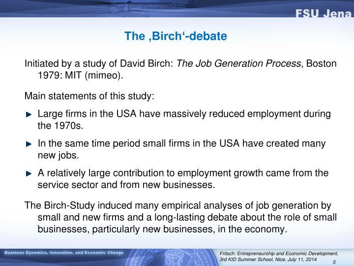 The 'Birch'-debate