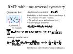 rmt with time reversal symmetry