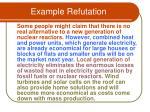 example refutation