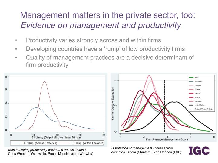 Management matters in the private sector, too: