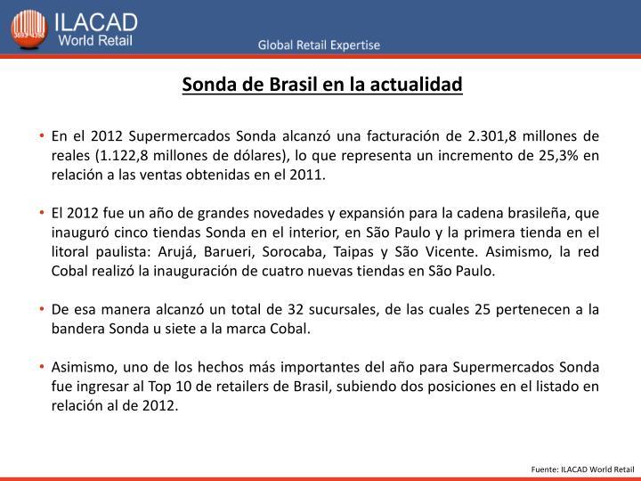 Sonda de Brasil en la actualidad