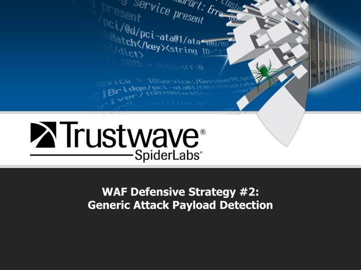 WAF Defensive Strategy #2: