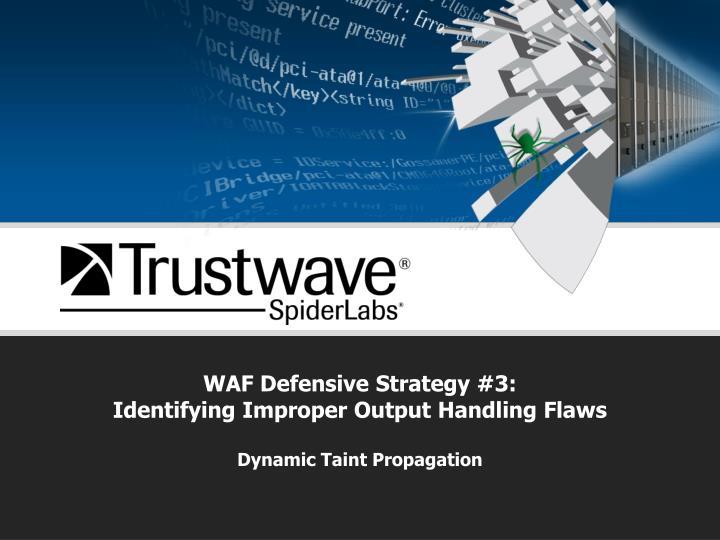 WAF Defensive Strategy #3: