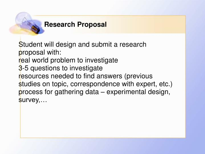 tpsp research proposal