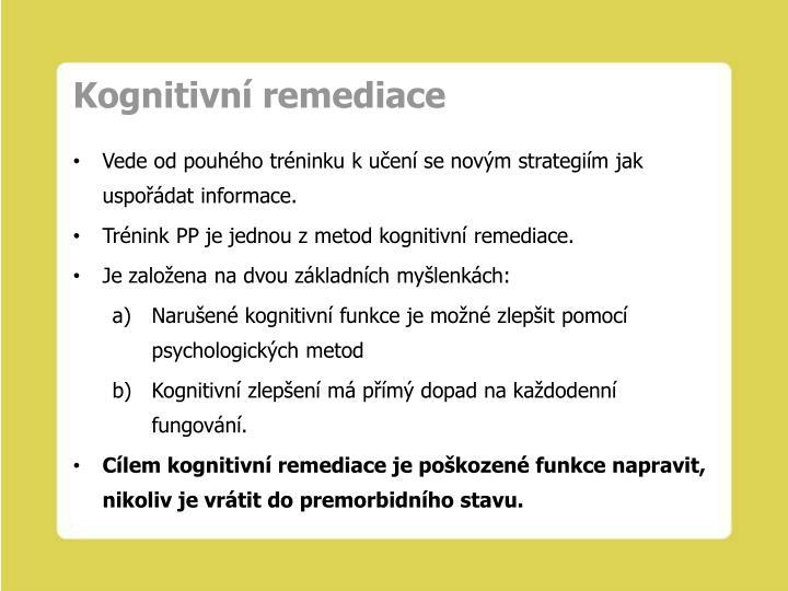 Kognitivní remediace