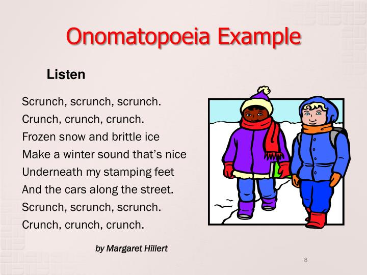 Onomatopoeia Example
