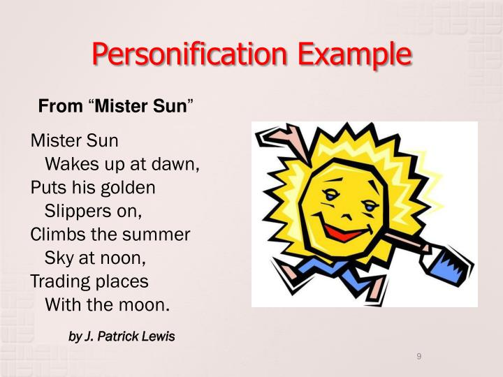 Personification Example