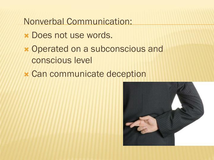 nonverbal communication deception