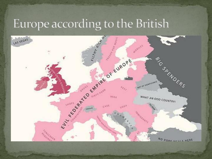 Europe according to the British