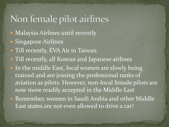 Non female pilot airlines