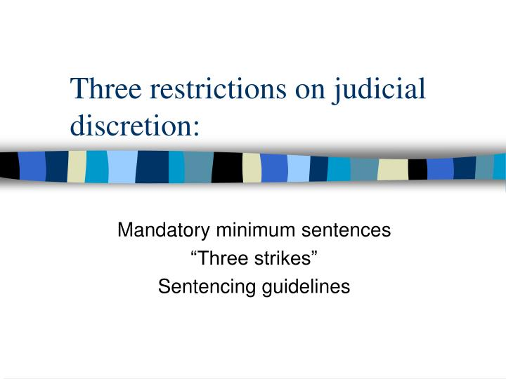 mandatory minimum sentencing A number of previous laws imposed mandatory minimum sentences long before the 1997 criminal law amendment act was enacted, among them a 1952 law that imposed mandatory corporal punishment and a 1959 law that introduced mandatory custodial sentences for the prevention of crimes and rehabilitative training under certain circumstances.