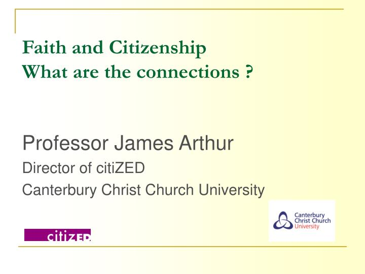 faith and citizenship what are the connections n.