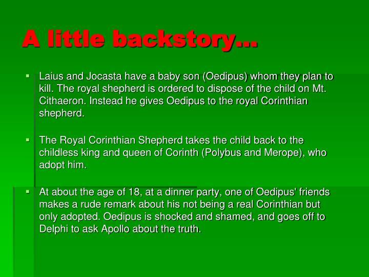 A little backstory…