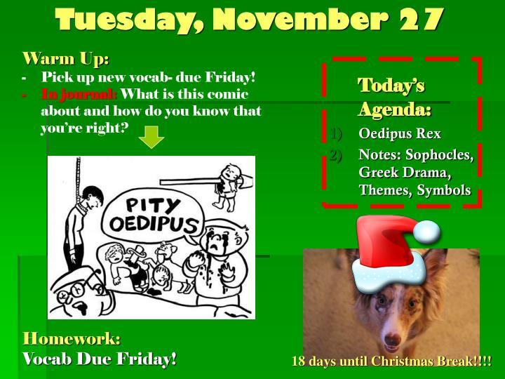 Tuesday, November 27
