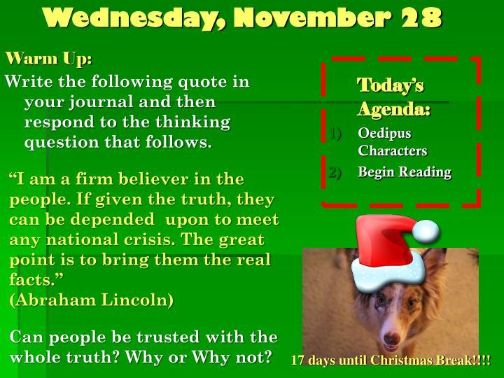 Wednesday, November 28
