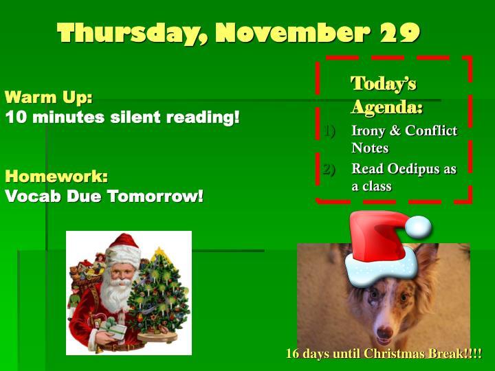 Thursday, November 29