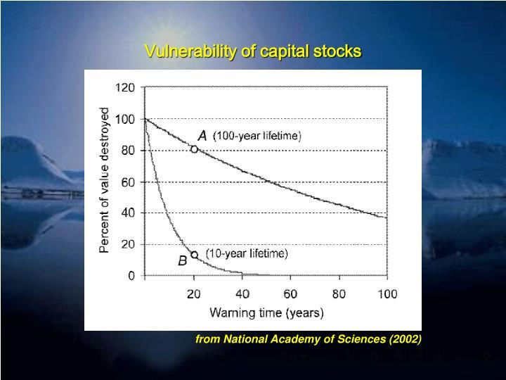 Vulnerability of capital stocks