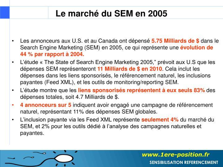 Le marché du SEM en 2005