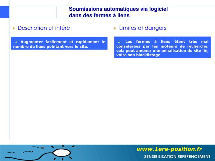 Soumissions automatiques via logiciel