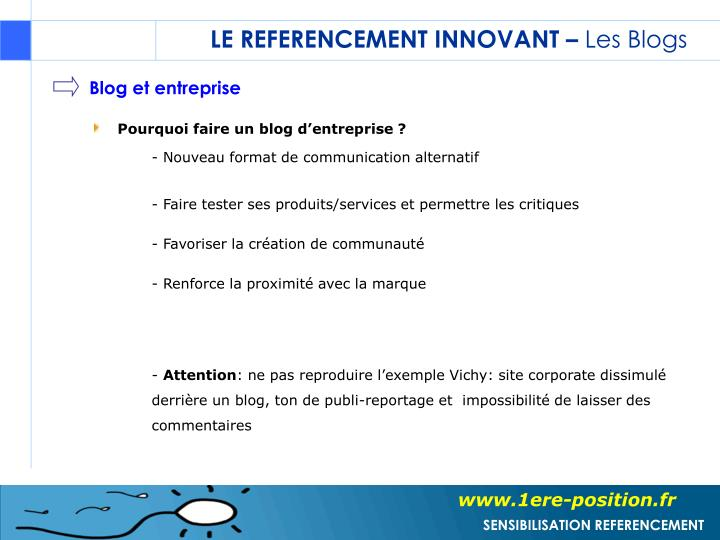 LE REFERENCEMENT INNOVANT –