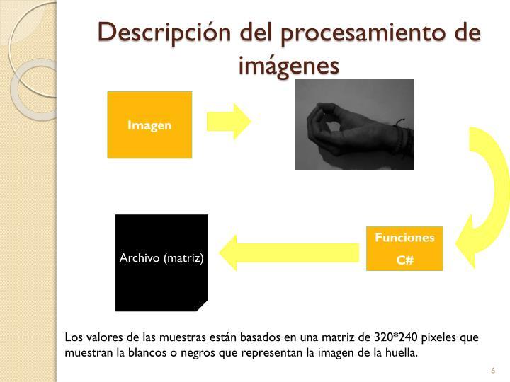 Descripción del procesamiento de imágenes