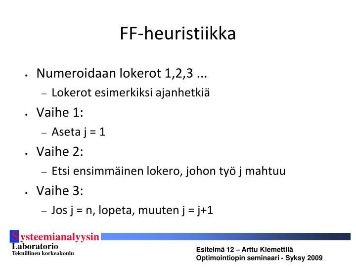 FF-heuristiikka