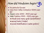 how did hinduism begin